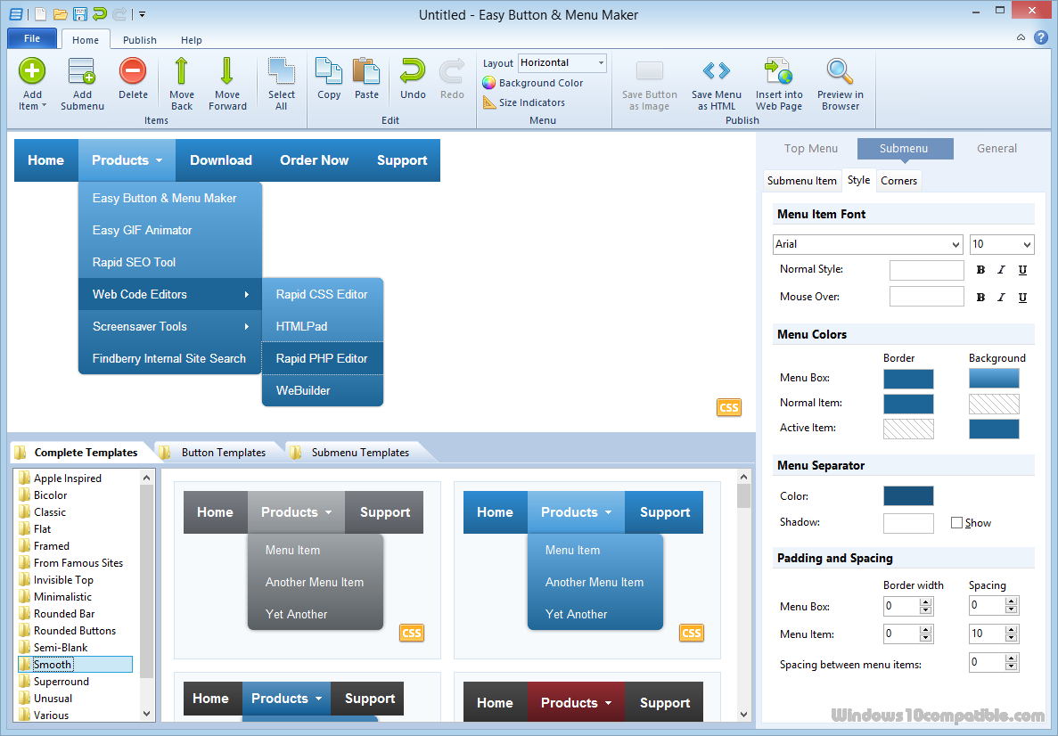 Easy Button & Menu Maker 4.2 Free download